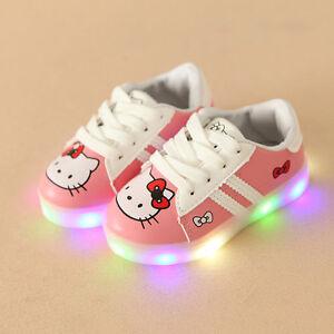 Scarpe-bambina-luci-Hello-Kitty-led-2017-kids-shoes-lights-kinder-schuhe
