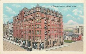 Duluth-Minnesota-Spalding-Hotel-Curios-Pocket-Watch-Clock-1920s-Postcard
