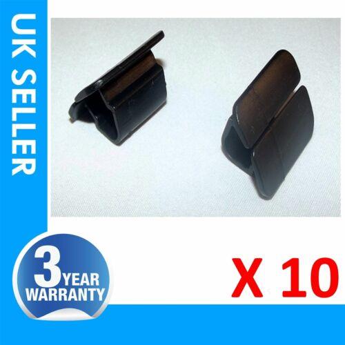 10 X FOR VW BONNET SEAL RETAINER CLIPS