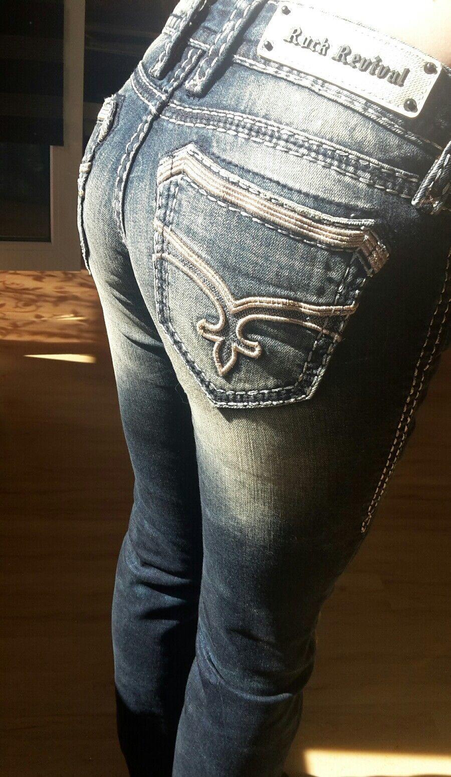 Rock Revival Jeans Damen XS   S - Sharon straight gerade NEU