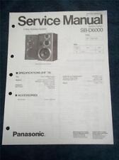 Technics Service Manual~SB-D6000 Speaker System~Original Repair