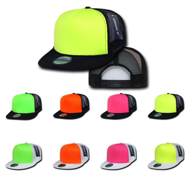 1 Dozen Decky Neon Curved Bill Mesh Trucker Baseball Hats Caps Wholesale Bulk