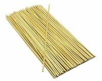 "200x Bamboo Skewers Sticks For Barbecue BBQ Shish Kebab Fruit Wooden Sticks 10"""