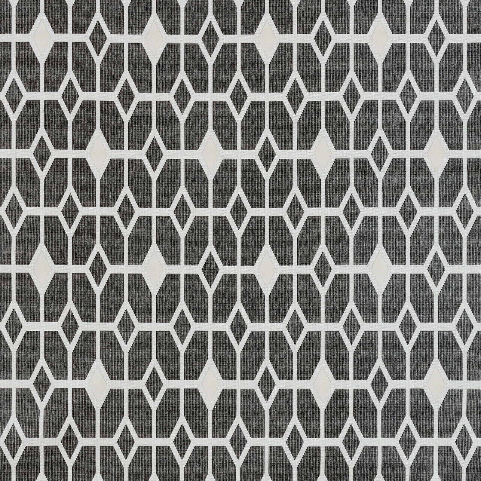 Grey and Charcoal Geometric Diamonds PVC Vinyl Wipe Clean Tablecloth Cover