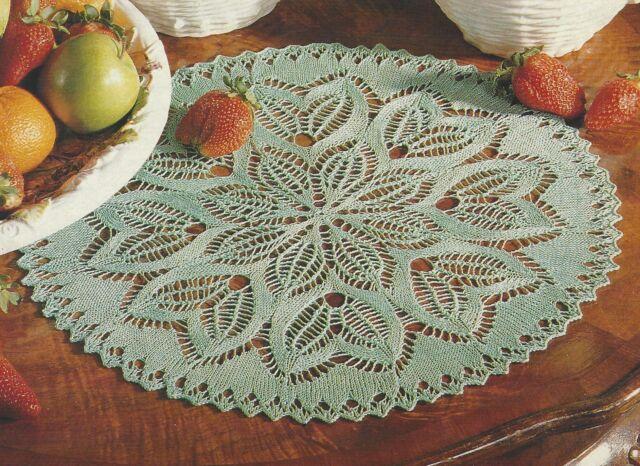 Circular Lace Table Place Mat/doily Knitting Pattern 938 | eBay