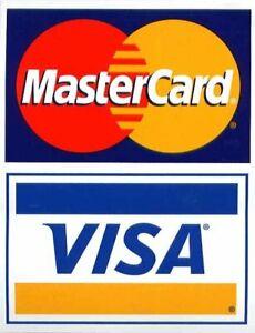 Visa Mastercard Credit Card Logo Decal Sticker Display Signage 715007208044 Ebay