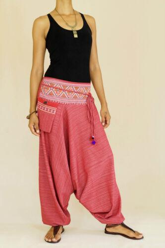 Haremshose Pumphose Aladinhose Pluderhose Vintage Goa Yoga Hippie Ballon Hose