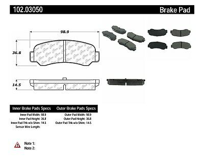 NEW COMPLETE SET BRAKE PAD CENTRIC 1985-1987 102.03050 FITS TOYOTA COROLLA