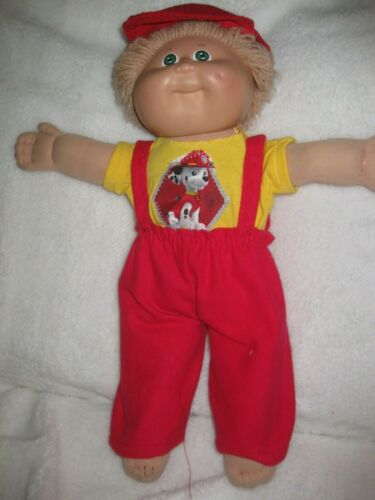 CPK doll clothes//16-18 inch//red slacks//yellow t-shirt//cap