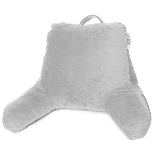 Super Soft Foam Reading Pillow, TV & Bed Rest Pillow, Arms Support With Pockets