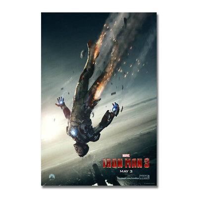 Iron Man Hot Movie Art Silk Poster 13x20 24x36 inch