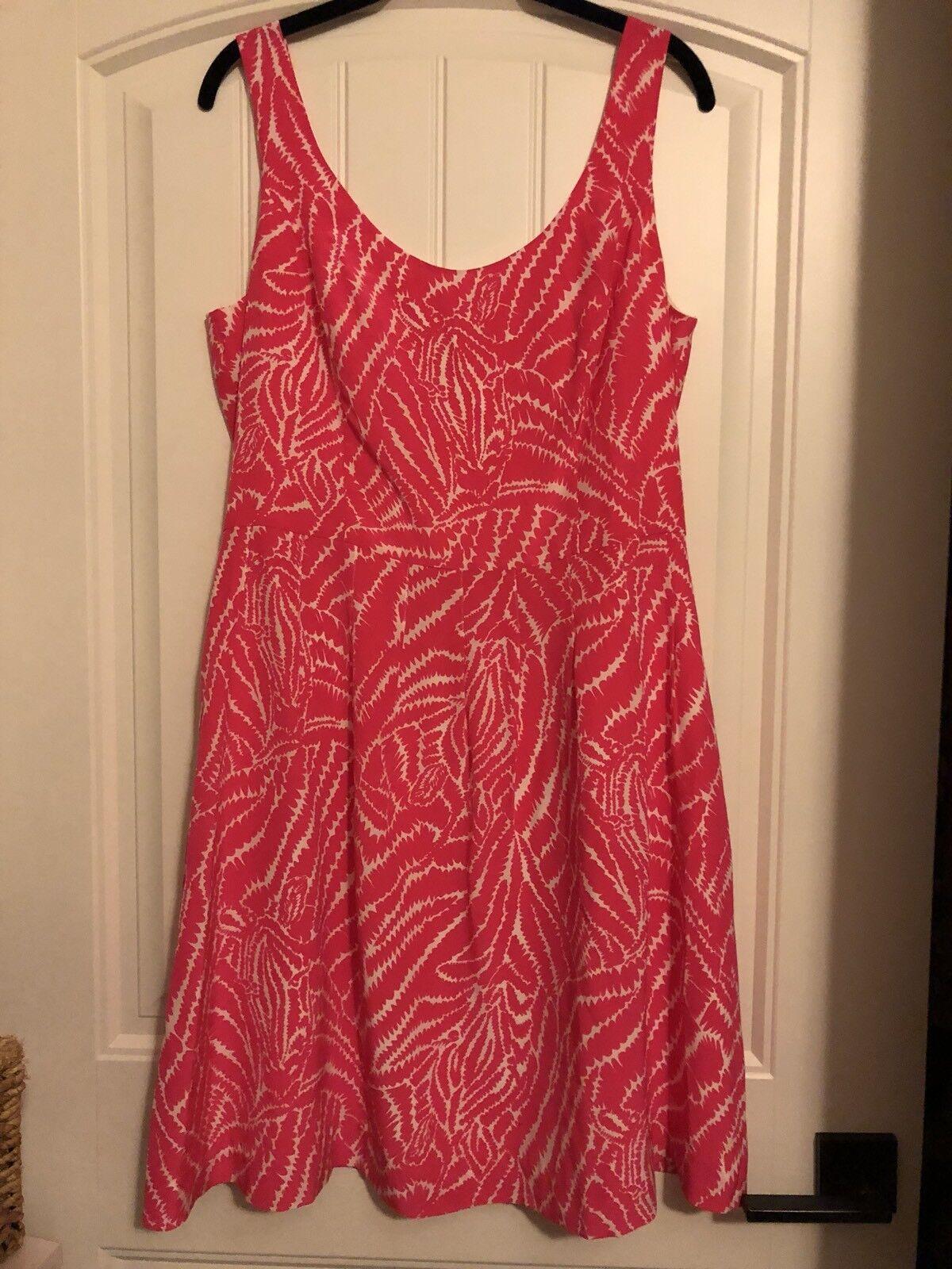 Lilly Pulitzer Zebra Stripe Pink Silk Dress