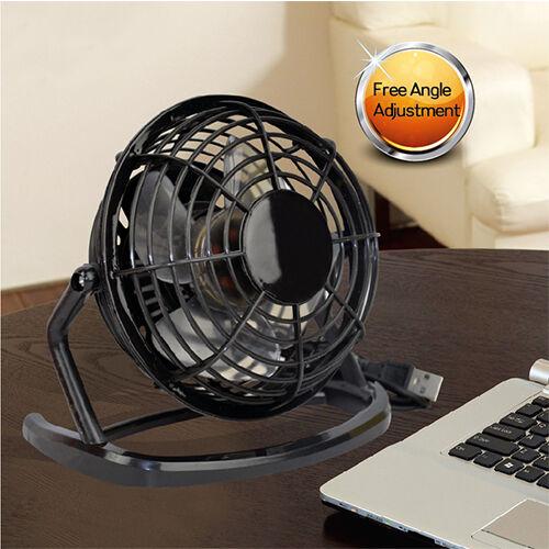 USB Fan Mini Portable Desktop Cooling Desk Quiet Fan Office Computer Laptop US