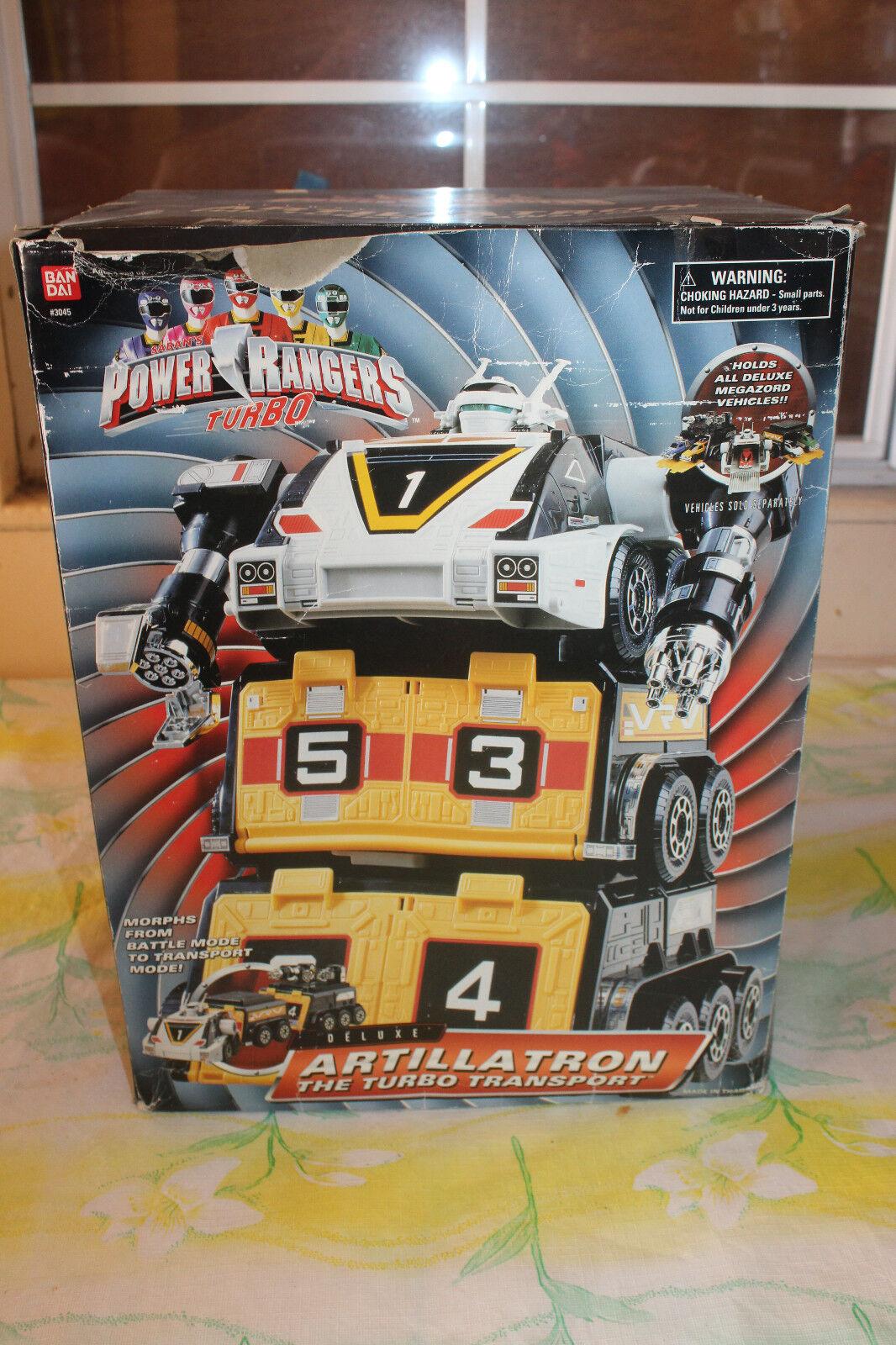 Bandai Power Rangers Turbo Artillatron The Turbo Transport w/ 5 Cars