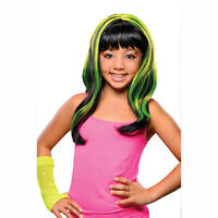 Black Child Costume Wig With Neon Yellow Streaks Rubies 52779