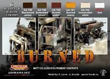 Lifecolor Acrylic Paint Sets LFC-CS29 Burned Diorama Acrylic Set