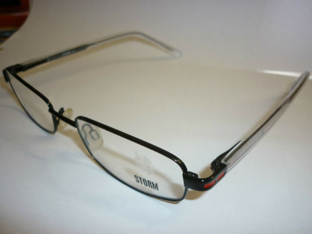 Storm 90st042-2 Black & Clear Spectacles Frames Glasses Eyeglass New G098