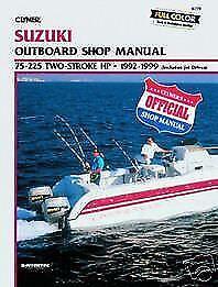 Suzuki marine 75 225hp 1992 1999 outboard motor boat shop for Boat motor repair shops