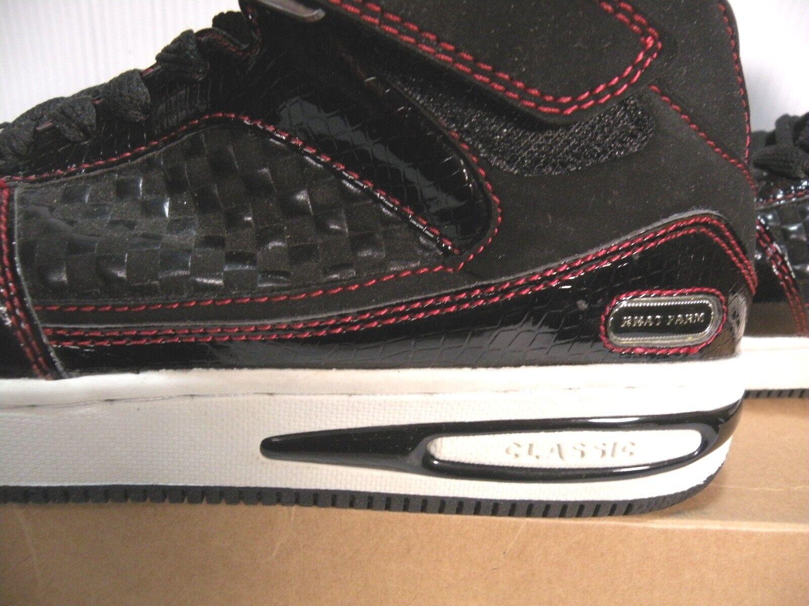 PHAT FARM 6-000802A CLASSIC HI MEN Schuhe BLACK/ROT/Weiß 6-000802A FARM SIZE 8 NEW a041de