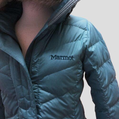 1229212 Marmot Womens Faux Fur Hooded Long Down Varma Parka Jacket Coat