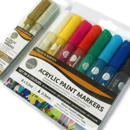 Daler Rowney Assorted Pack of 10 2mm Simply Acrylic Paint Markers