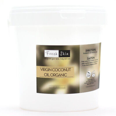 2kg Organic Virgin Coconut Oil - Cold Pressed 100% Pure (2000g)