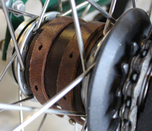Ba sport Leather Bicycle Hub Guard for Brompton