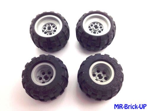 Technik Autoreifen Lego® 4 x Technic Reifen 43,2x28 S Felge grau L180