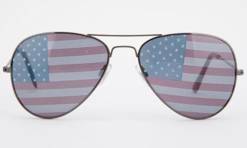 Aviator USA Flag Sunglasses American Patriotic United States Stars Stripes New