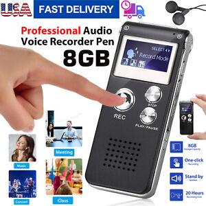 8G Voice Activated Mini Digital Sound Audio Recorder Dictaphone MP3 Player QP