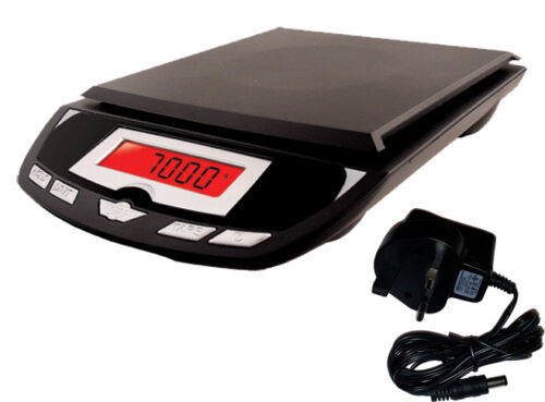 Optional Mains Adapter My Weigh 7001DXB 7kg Postal Kitchen Scale Black