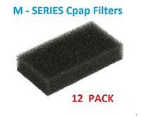 Respironics Remstar M - Series Cpap Bipap Sleepeasy Black Foam Filters - 12 Pack