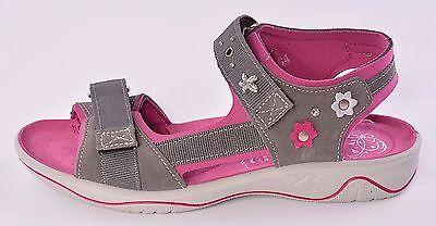 Ricosta Azani Girls Grey Suede Sandals UK 11 EU 29 US 11.5 Medium RRP £42.00