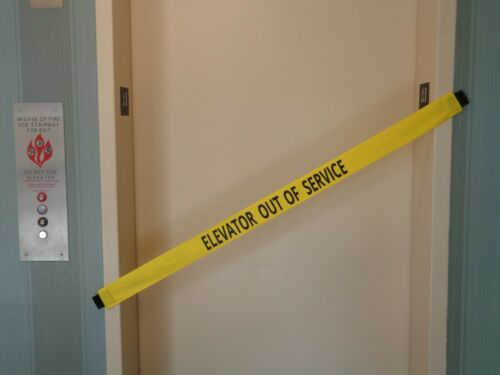 Details about  /Elevator Out of Service Safety Sign The ORIGINAL Nylon Banner w// Magnetic Ends