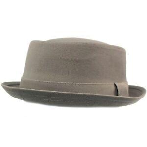 Mens Everyday Cotton All Season Porkpie Boater Derby Fedora Sun Hat