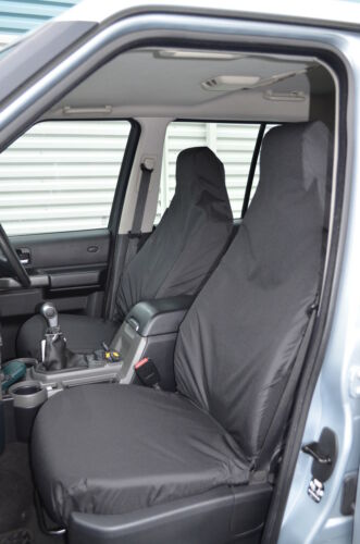 Land Rover Discovery 3 /& 4 Front Pair Black Tailored /& Waterproof Seat Covers NA