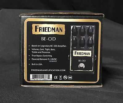 5150 Modeling Friedman Amplification BE-OD Overdrive Guitar Effects Pedal
