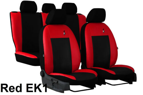 MITSUBISHI L200 2006-2015 Universal Red//Black Eco-Leather Full Set Seat Covers