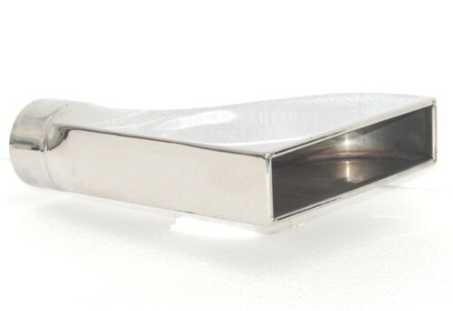 """OUTLET OFFSET 2.5/"""" INLET T304 Stainless Steel Exhaust Tip RECTANGLE 7.6/"""" W"""