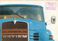 Saviem 1968-69 French Market Foldout Sales Brochure SM 1080 10 215 15 215 21 215
