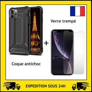 VERRE TREMPE + COQUE PROTECTION ANTI CHOC APPLE IPHONE 12 / 12 MINI / 12 PRO MAX