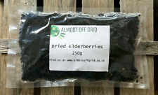 Dried Elderberries 250g - Premium Quality - Wine Making Home Brew FREE FAST P&P