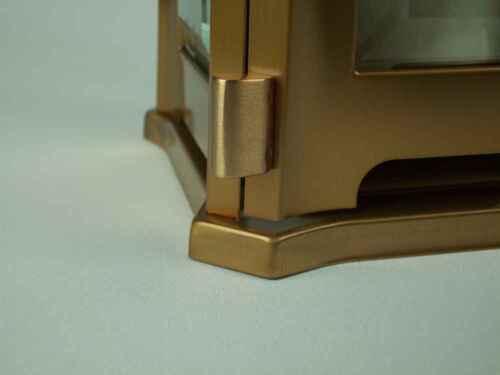 Grablampe Venezia Edelstahl Bronze farb Grablaterne Grableuchte Friedhofslaterne