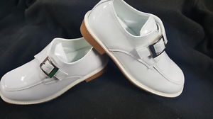 7YOUTH New Boy/'s white Dress Shoe//white Communion shoes //size 11 todller  up to