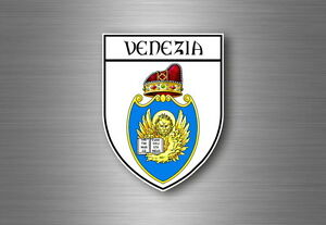 Sticker-decal-souvenir-car-coat-of-arms-shield-city-flag-venice-italy