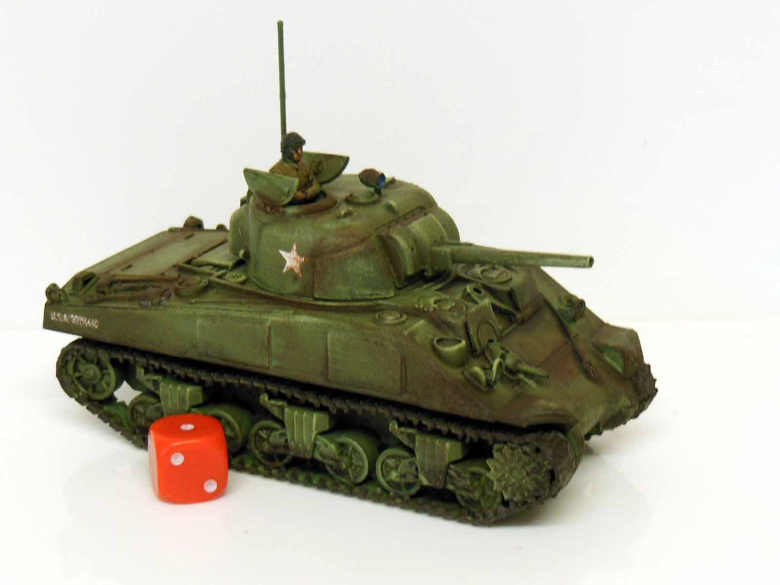 28mm Bolt Action Chain Of Command US M4 Sherman Tank - Painted & Weathered  (R2)