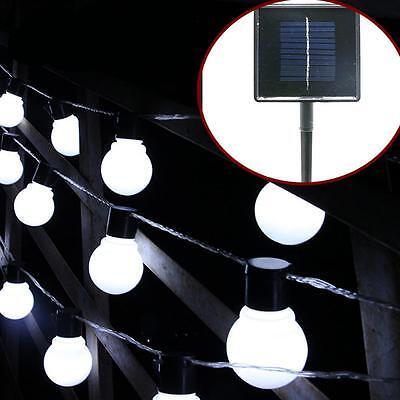 Outdoor Solar Powered Retro Bulb String Lights For Garden Fairy Summer Lamp
