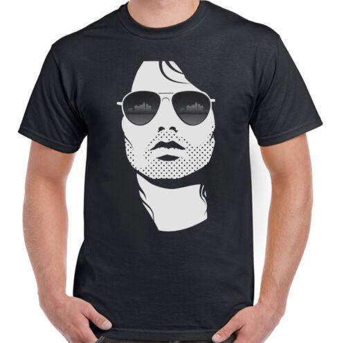 Mens Cool Jim Morrison T-Shirt The Doors Band Guitar Festival