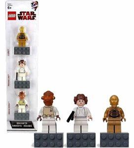 LEGO 852843 Star Wars Minifig Magnet Set Princess Leia /& Ackbar C-3PO