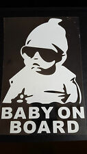 Baby on Board Window/Bumper Sticker Vinyl for Saab 9-3 9-5 90 900 9000 Aero 2.3t